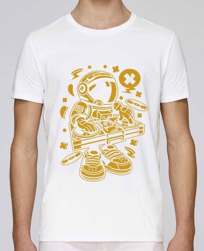 Camiseta Cuello Redondo Stanley Leads Dj Astronaute Golden Cartoon   By Kap Atelier Cartoon por Kap Atelier