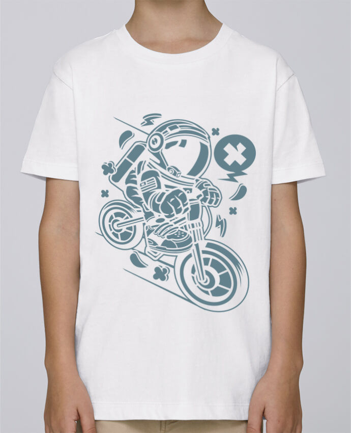 Camiseta de cuello redondo Stanley Mini Paint Astronaute Motard Cartoon | By Kap Atelier Cartoon por Kap Atelier
