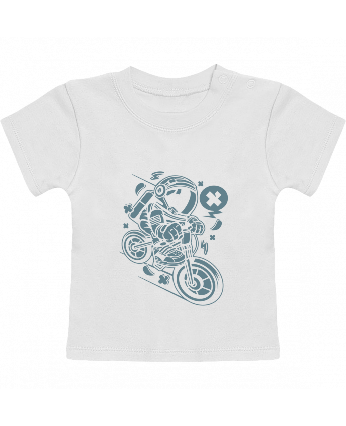 Camiseta Bebé Manga Corta Astronaute Motard Cartoon | By Kap Atelier Cartoon manches courtes du designer Kap Atel