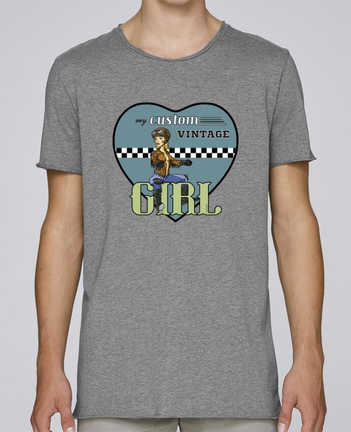 Camiseta Hombre Tallas Grandes Stanly Skates My custom vintage girl por BRUZEFH