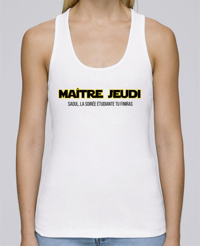 Camiseta de tirantes algodón orgánico mujer Stella Dreams Maître jeudi por tunetoo en coton Bio