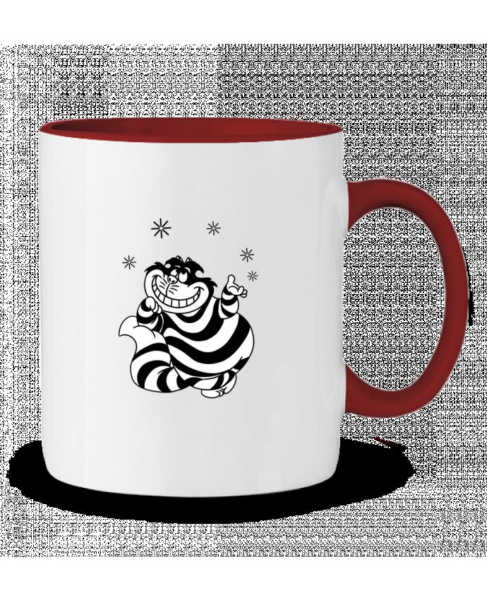 Taza Cerámica Bicolor Cheshire cat tattooanshort