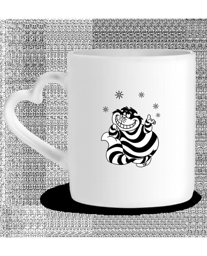 Taza Corazón Cheshire cat por tattooanshort