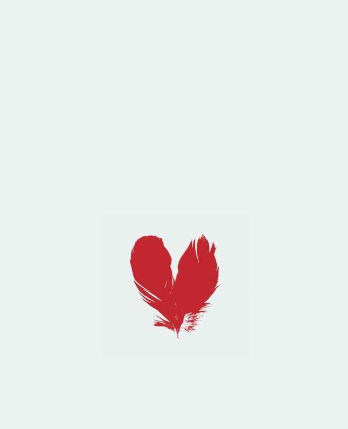 Bolsa de Tela de Algodón coeur de plumes por Studiolupi