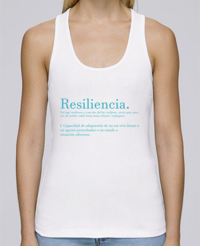 Camiseta de tirantes algodón orgánico mujer Stella Dreams Resiliencia por Cristina Martínez en coton Bio