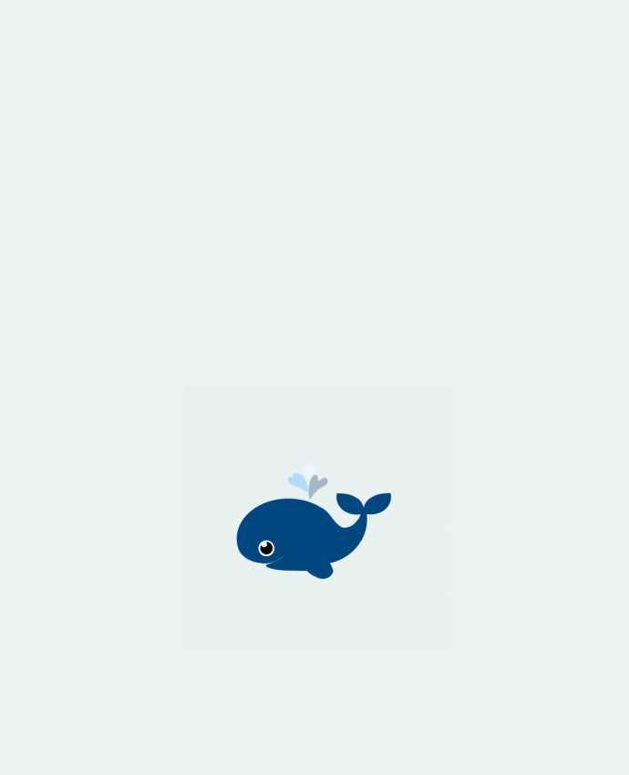Bolsa de Tela de Algodón Baleine coeur por WBang