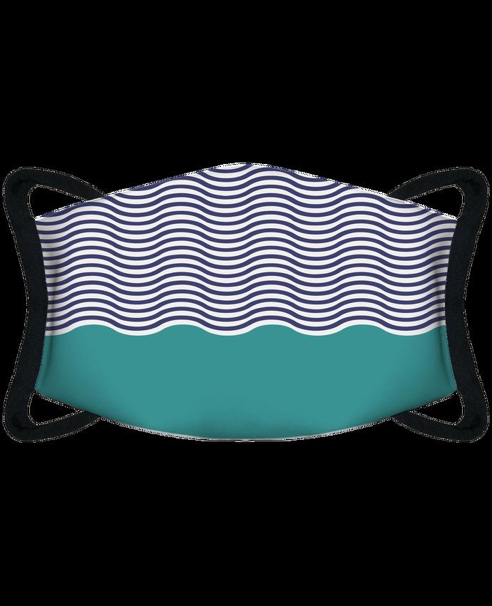 Mascarilla de protección personalizada Pattern vagues por tunetoo