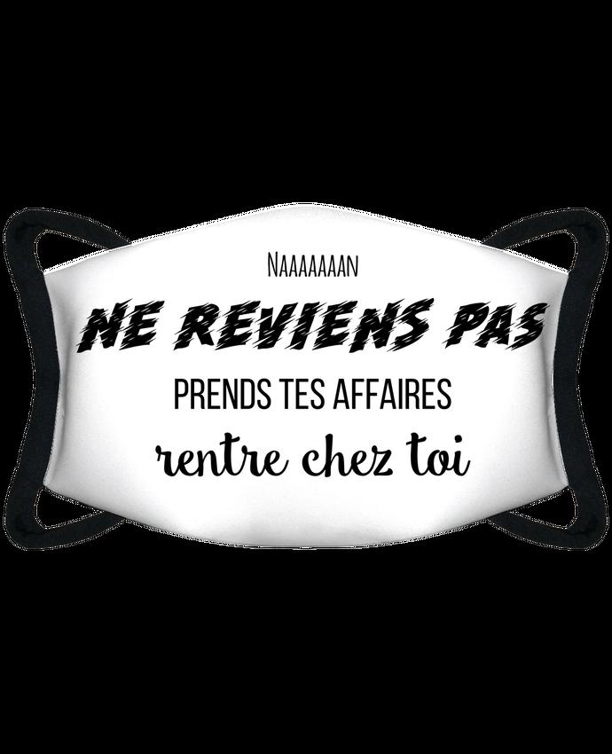 Mascarilla de protección personalizada Ne reviens pas - Gradur ft Heuss por tunetoo