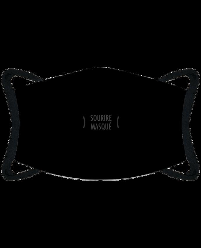 Mascarilla de protección personalizada Mascarilla de protección personalizada sourire masqué - noir por justsayin