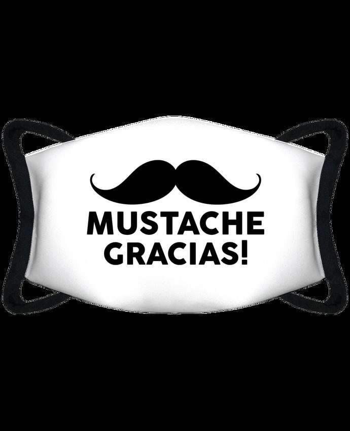 Mascarilla de protección personalizada Mustache Gracias ! por tunetoo
