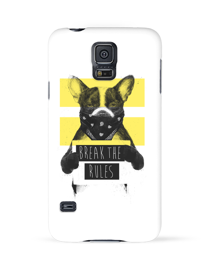 Carcasa Samsung Galaxy S5 rebel_dog_yellow por Balàzs Solti