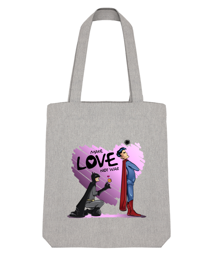 Bolsa de Tela Stanley Stella MAKE LOVE NOT WAR (BATMAN VS SUPERMAN) por teeshirt-design.com