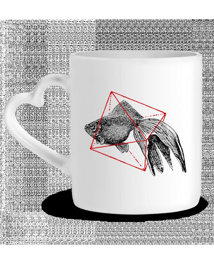 Taza Corazón Fish in geometrics II por Florent Bodart