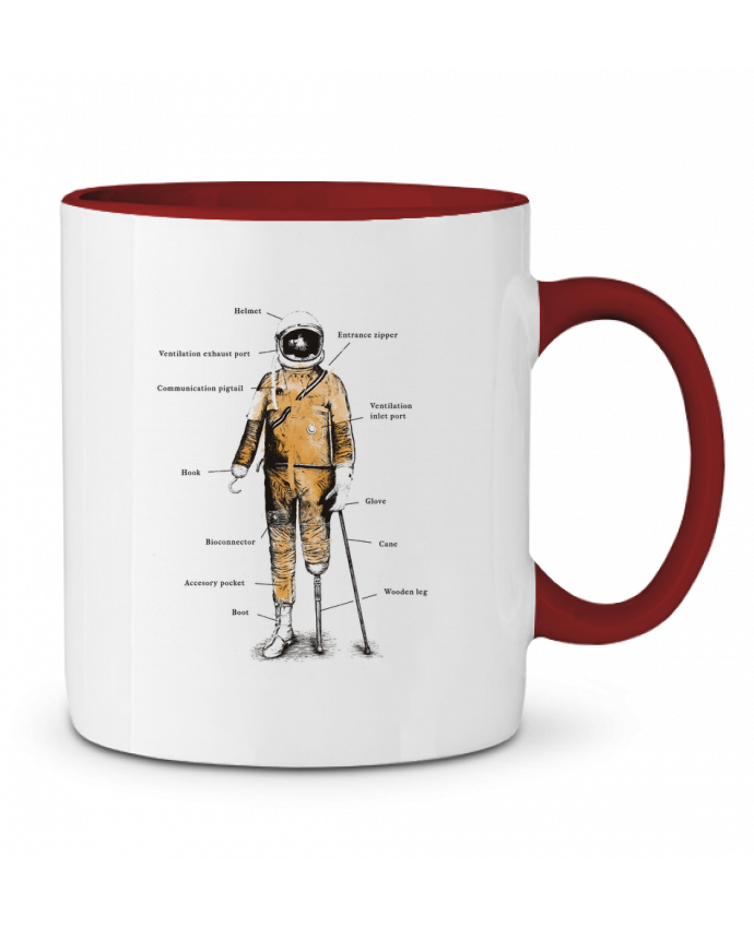 Taza Cerámica Bicolor Astropirate with text Florent Bodart