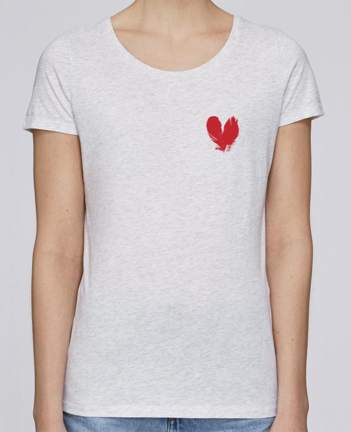 Camiseta Mujer Stellla Loves coeur de plumes por Studiolupi