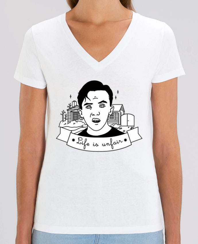 Camiseta Mujer Cuello V Stella EVOKER Malcolm in the middle Par  tattooanshort
