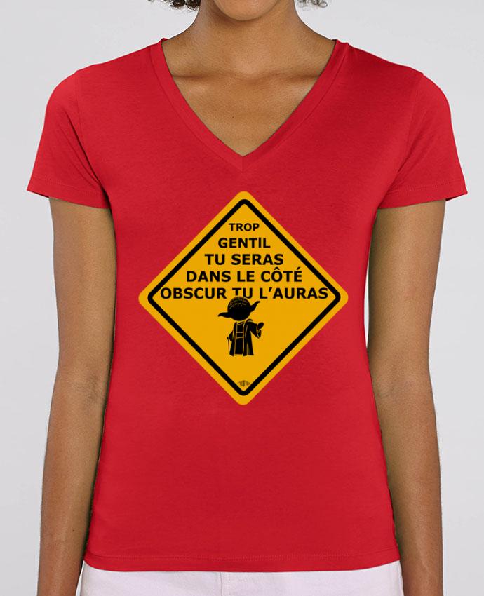 Camiseta Mujer Cuello V Stella EVOKER Yoda - Star Wars Par  Rtom13
