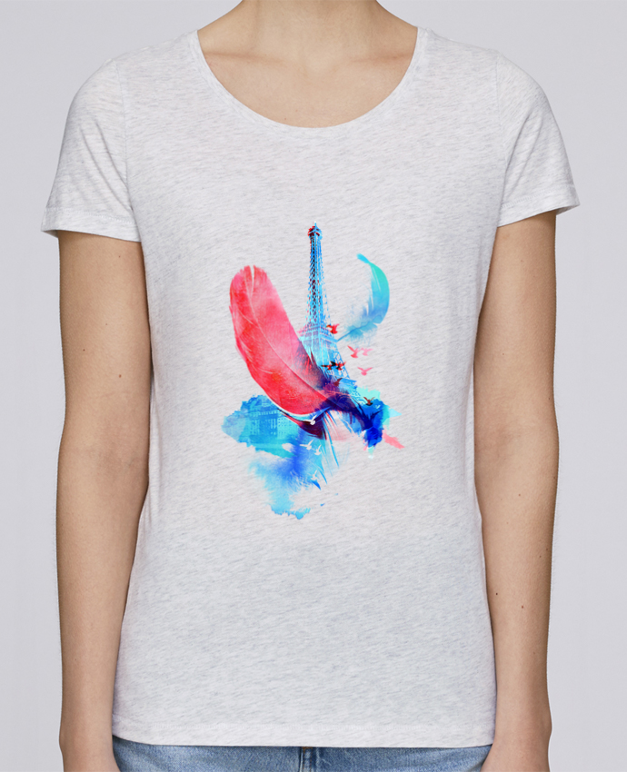 Camiseta Mujer Stellla Loves Pigeons of Paris por robertfarkas