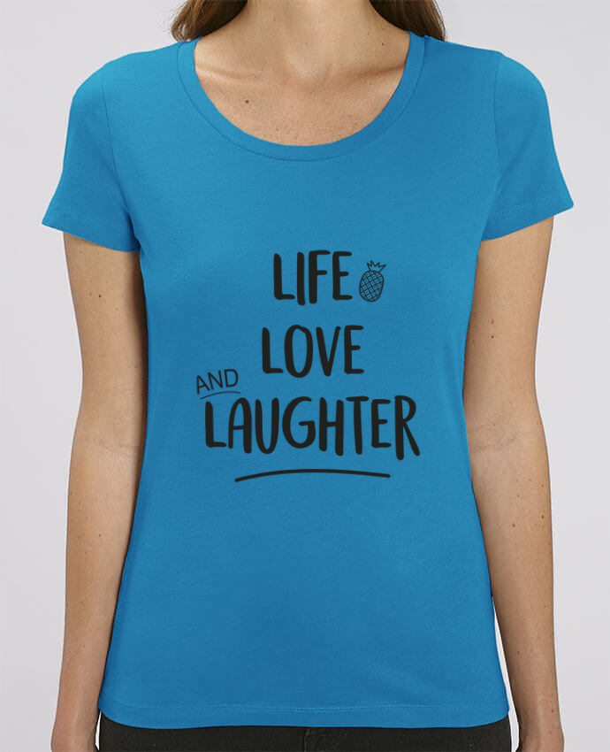 Camiseta Essential pora ella Stella Jazzer Life, love and laughter... por IDÉ