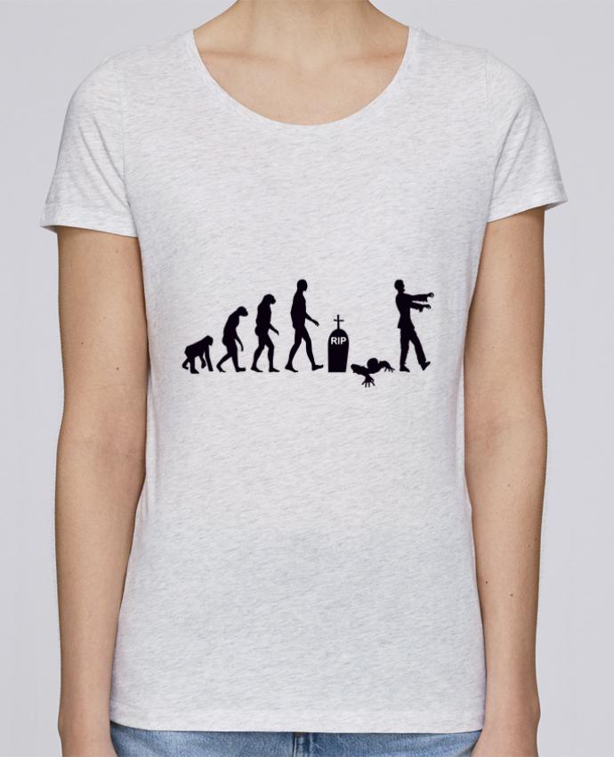 Camiseta Mujer Stellla Loves Zombie évolution por Benichan
