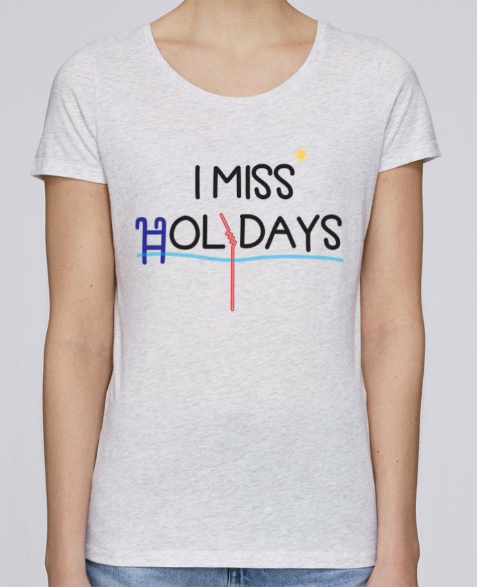Camiseta Mujer Stellla Loves I miss holidays por tunetoo