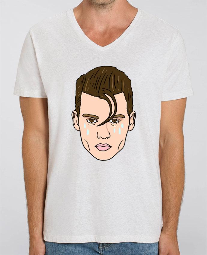 Camiseta Hombre Cuello V Stanley PRESENTER Cry baby por Nick cocozza