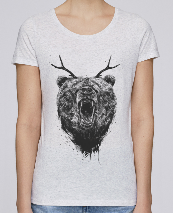 Camiseta Mujer Stellla Loves Angry bear with antlers por Balàzs Solti