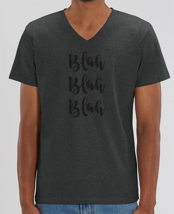 Camiseta Hombre Cuello V Stanley PRESENTER Blah Blah Blah ! por tunetoo