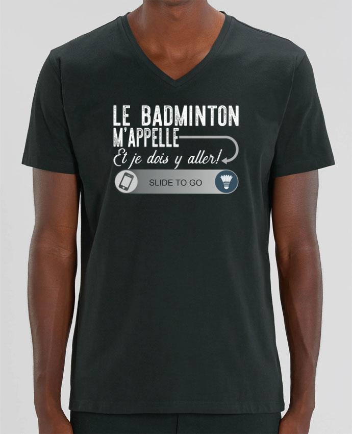 Camiseta Hombre Cuello V Stanley PRESENTER Badminton m'appelle por Original t-shirt