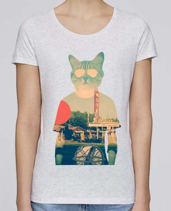 Camiseta Mujer Stellla Loves Cool cat por ali_gulec