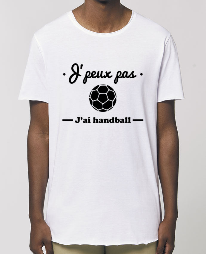 Camiseta larga pora él  Stanley Skater J'peux pas j'ai handball ,  tee shirt handball, hand Par  Benichan