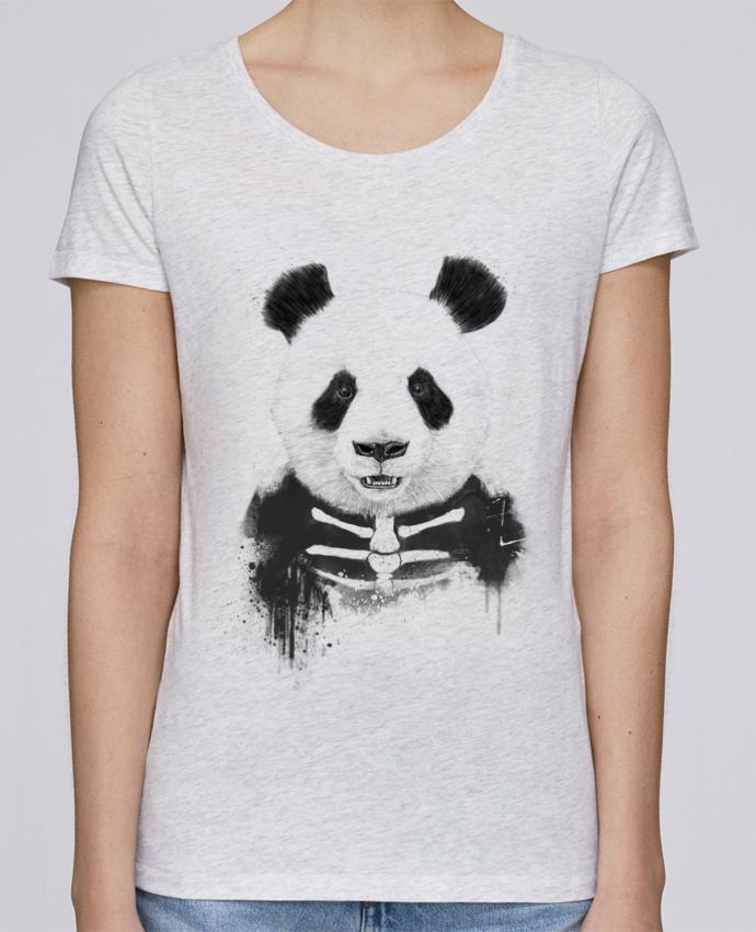 Camiseta Mujer Stellla Loves Zombie Panda por Balàzs Solti