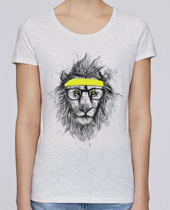Camiseta Mujer Stellla Loves Hipster Lion por Balàzs Solti