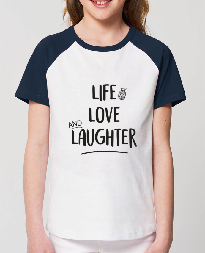 Camiseta Manga Corta Contraste Unisex Stanley MINI CATCHER SHORT SLEEVE Life, love and laughter... Par IDÉ