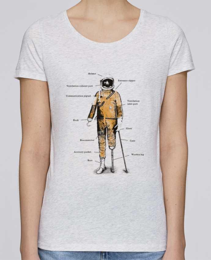 Camiseta Mujer Stellla Loves Astropirate with text por Florent Bodart