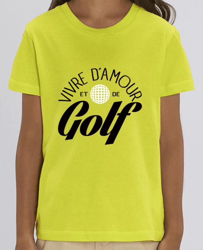 Camiseta Infantil Algodón Orgánico MINI CREATOR Vivre d'Amour et de Golf Par Freeyourshirt.com