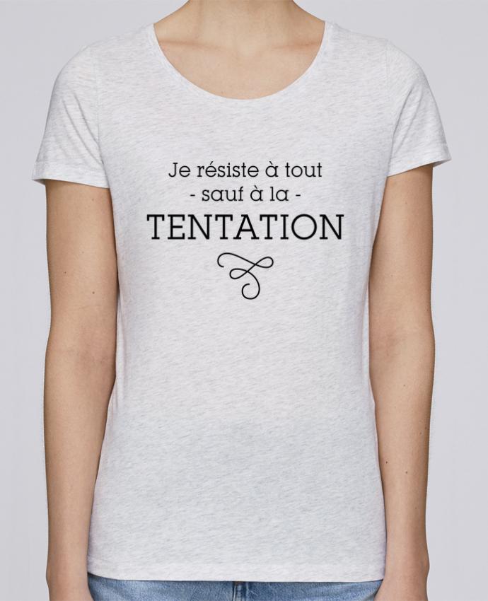 Camiseta Mujer Stellla Loves Je résiste à tout sauf à la tentation por tunetoo