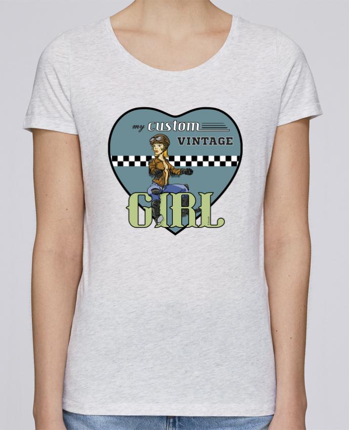 Camiseta Mujer Stellla Loves My custom vintage girl por BRUZEFH