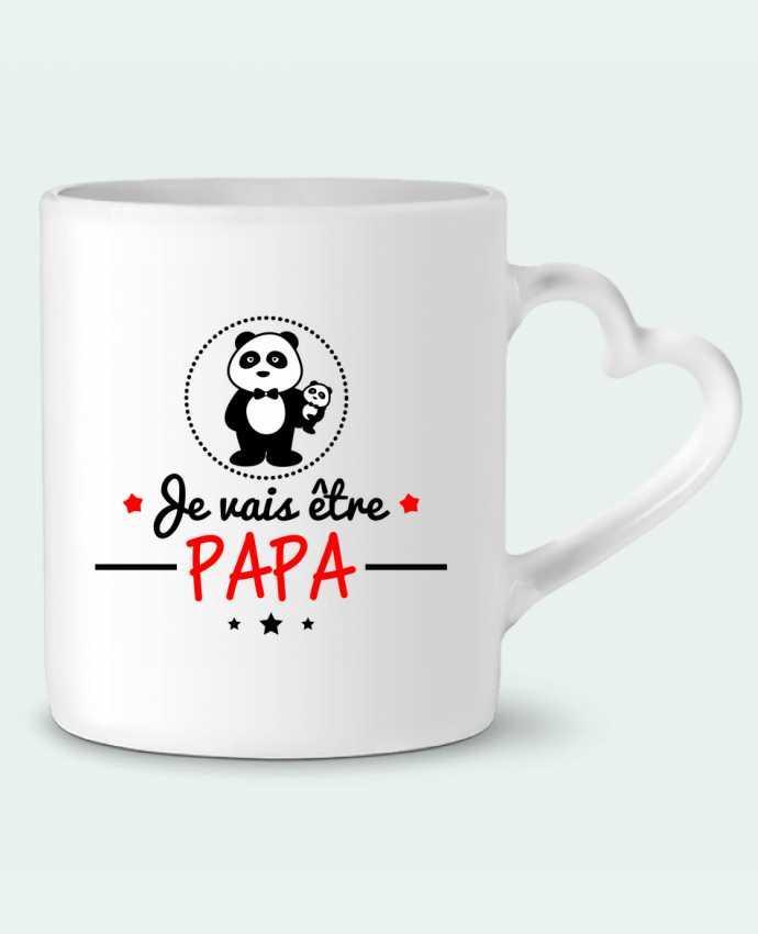 Taza Corazón Bientôt papa , Futur père por Benichan
