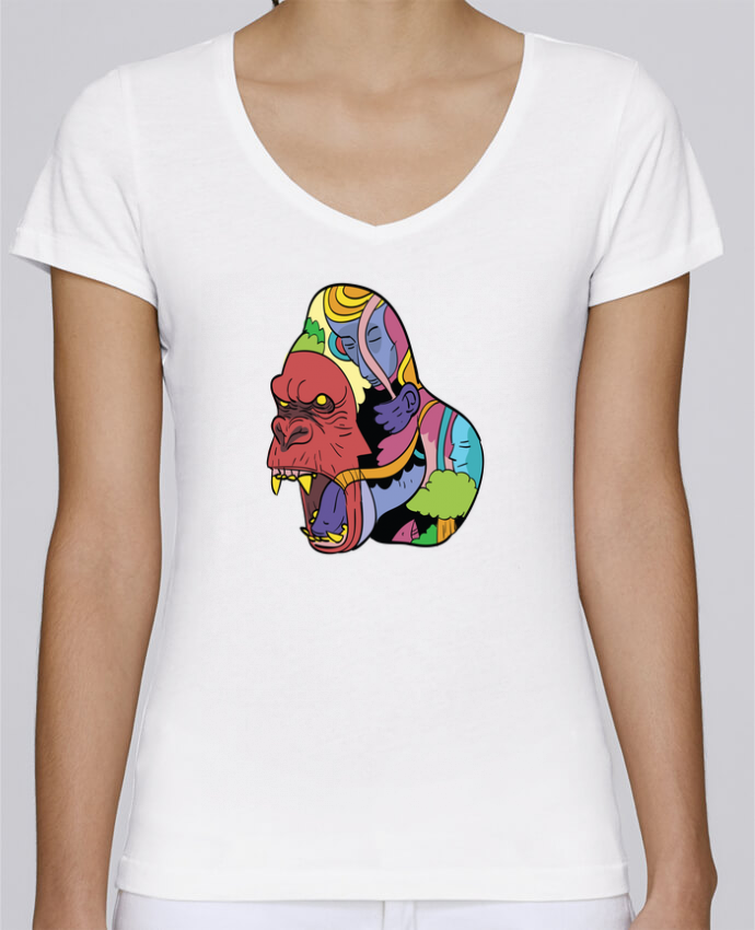 Camiseta Mujer Cuello en V Stella Chooses wrathofnature por Arya Mularama