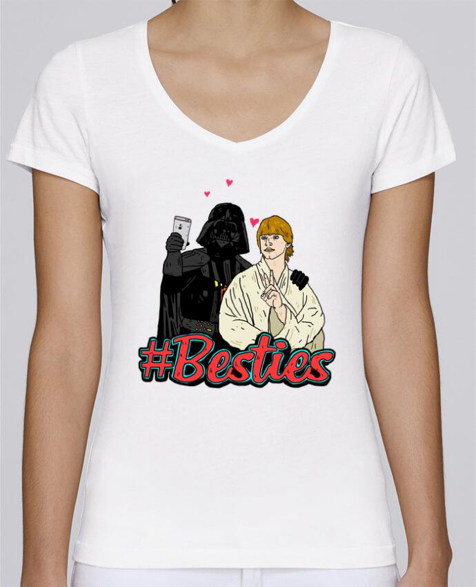 Camiseta Mujer Cuello en V Stella Chooses #Besties Star Wars por Nick cocozza