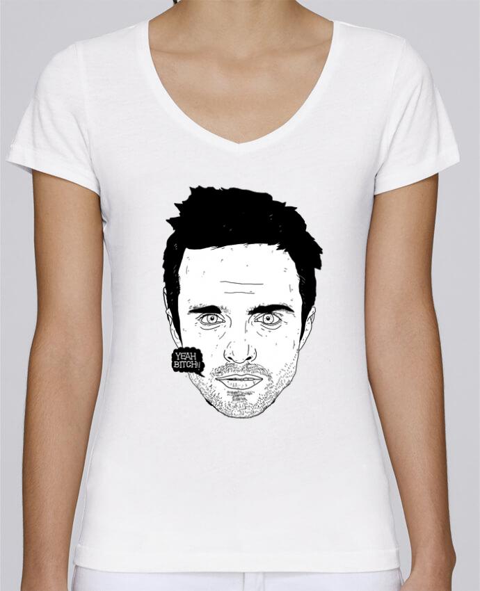 Camiseta Mujer Cuello en V Stella Chooses Jesse Pinkman por Nick cocozza