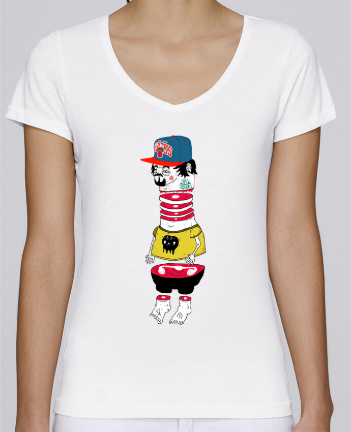Camiseta Mujer Cuello en V Stella Chooses Chopsuey por Nick cocozza
