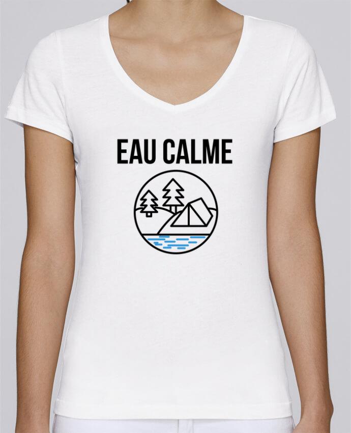 Camiseta Mujer Cuello en V Stella Chooses eau calme por Ruuud