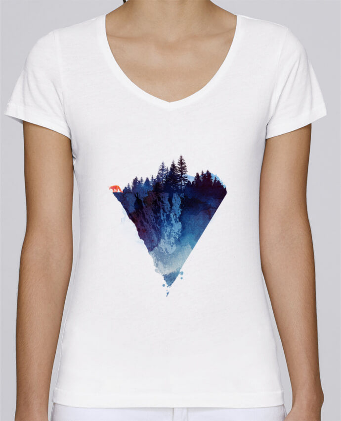 Camiseta Mujer Cuello en V Stella Chooses Near to the edge por robertfarkas