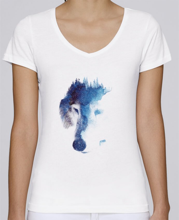 Camiseta Mujer Cuello en V Stella Chooses Through many storms por robertfarkas