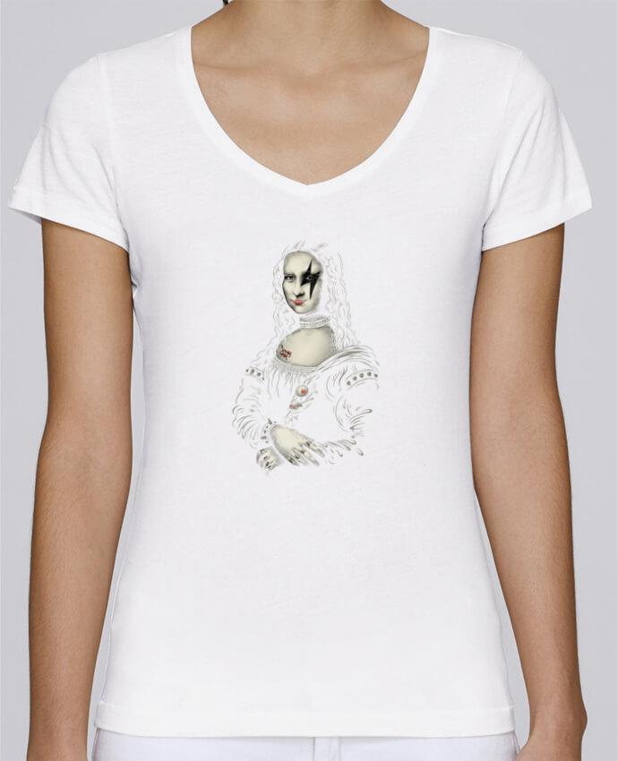 Camiseta Mujer Cuello en V Stella Chooses Renaissance Rocks por Enkel Dika