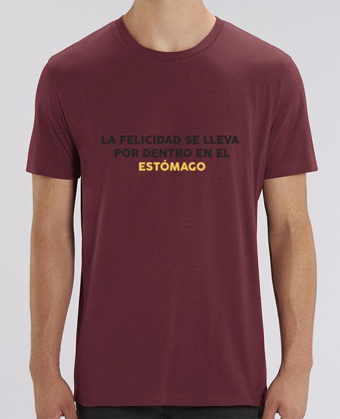 T-Shirt La felicidad se lleva por dentro en el estómago por tunetoo